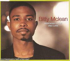 BITTY McLEAN - Dedicated To The One I Love (UK 4 Tk CD Single)