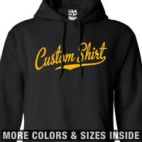 Custom Script & Tail HOODIE Personalized Baseball Sweatshirt  All Sizes & Colors