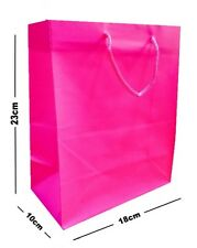 15 x rosa laminato opaco FESTA Sacchetti regalo ~ LUSSO DI COMPLEANNO BORSA