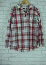 SPORTSCRAFT Blouse Sz 16 Red, White Check Print