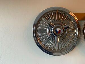 1961,1962,1963 Mercury Monterey S-55 15 inch SPINNER HUB CAP ASSY-Mint Set of 4