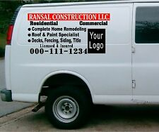 van truck vehicle custom vinyl lettering business sign number letters 3 decal