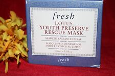FRESH LOTUS YOUTH PRESERVE RESCUE MASK FULL SIZE 3.3 OUNCES AUTHENTIC FRESH BOXD
