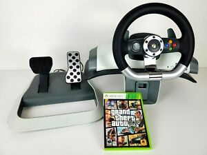 Microsoft XBox 360 Force Steering Wheel Pedals Clamp Racing Driving WRW02