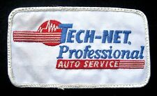 """TECH NET EMBROIDERED SEW ON PATCH PROFESSIONAL AUTO SERVICE CAR 4 1/2"""" x 2 1/2"""""""