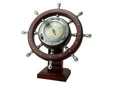 Five Oceans Ship Wheel Desk Barometer – BC 3969