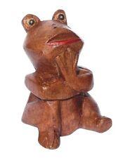 Kleiner Frosch Holz Tier Figur Kinder Spielzeug Frog KTier15