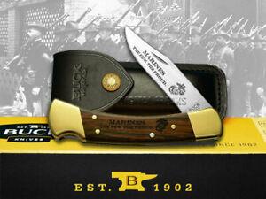 Buck 110 U.S. Marines Folding Hunter Knife Ebony Wood 1/500 420HC Stainless