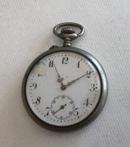 Watch Gusset Antique Metal Argfnte IN Working Order REF64665