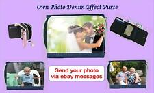 OWN PHOTO PRINTED DIRECT ONTO DENIM EFFECT LADIES PURSE