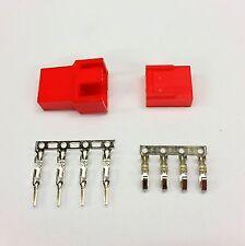 MASCHIO & FEMMINA 4 PIN PC FAN LED connettori di alimentazione - 5 di ogni-Rosso Inc PIN