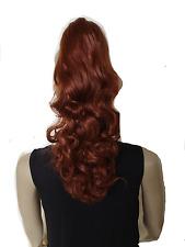 Voluminöse Haarteil Zopf mit Klammer (Perücke) extralang ca 50-60cm gewellt NNQE