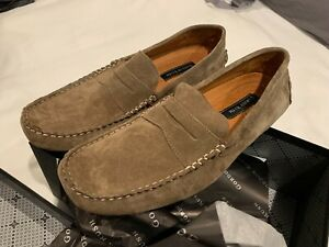 NEW! Gordon Rush Men's, Barden Suede Driving Shoes, Size 13 - Color/Stone