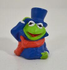 "VINTAGE Kermit Frog Finger Puppet 2"" Dakin Figure The Muppets Christmas Carol"