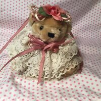 "Vntg Lacey Bear 7.5"" Handmade Decorations"