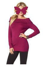 Damen Pullover mit breitem Kragen von Melrose Himbeere Größe 38
