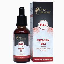 Vitamin B12 1250 Tropfen = 50 ML - Methylcobalamin - 1000μg pro Tag - Vegan