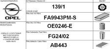 139/1 KIT 4 FILTRI TAGLIANDO OPEL CORSA D 1.3 CDTI KW 66 CV 90 PURFLUX