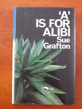 1986 1st British Edition Book - A is For Alibi by Sue Grafton - Signed