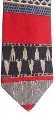 "Emilio Romano Men's Silk Tie 58"" X 4"" Multi-Color Geometric/Horizontal Striped"