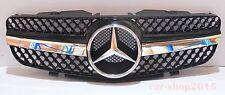 Front Grille Mercedes Benz SL R230 SL500 SL600 SL-Style 03-06 Chrome & Black