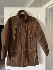 """SHIRES TAN LADIES PADDED WATERPROOF RIDING EQUESTRIAN COAT JACKET SIZE S 42"""" 12"""