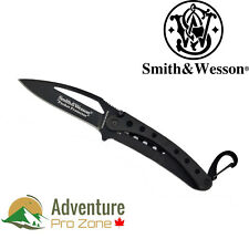 Smith & Wesson SWPRO-BK Pocket Protector Plain Edge Knife, 440C steel