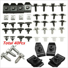 40X Engine Undertray Cover Clips Bottom Shield Guard Screws For TOYOTA AVEN