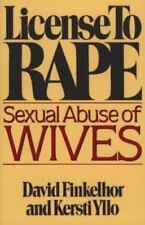 License to Rape Finkelhor, David Paperback