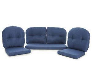 """NEW - Navy Blue 7-Piece """"Westwood"""" Patio Cushion Set By Wilson & Fisher"""