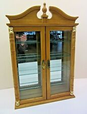 Small Wood/Glass Curio Display Cabinet Shelf For Miniatures Wall Or Table
