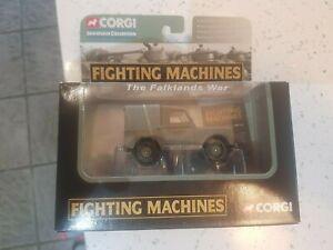 CORGI FIGHTING MACHINES FALKLANDS WAR BRITISH ARMY LANDROVER CS90115 MINT IN BOX