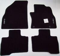 Fiat Qubo Genuine New Tailored Black Carpet Mat Set x4 71805647