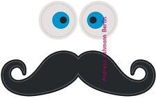 Türspion Sticker Gesicht Augen Bart wiederverwendbar Reusable Peephole Wohnung