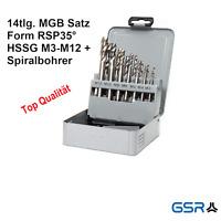 HSSE//CO Spiralbohrer- Satz 1-10,5 x 0,5 mm Orig M 12 Kernlochbohrer M 3