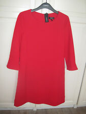 ROBE ROUGE CAROLL T 42 MANCHES 3/4 VOLANT PAGODE NEUVE
