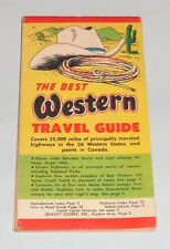 1959 THE BEST WESTERN TRAVEL GUIDE Pocket Guide Colorado Lodge Free U.S. S/H