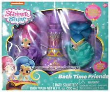 GBG BEAUTY* 3pc Set SHIMMER AND SHINE Pouf Squirters+Body Wash BATH TIME FRIENDS