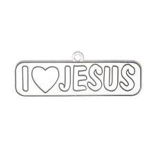I Love Jesus Ornament Paintable Suncatcher Sun Catcher Paint Your Own