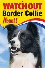 BORDER COLLIE 3D  DOG SIGN great Christmas stocking filler