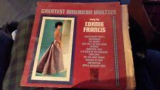 "Connie Francis: Greatest American Waltzes   12""  33 RPM  LP"