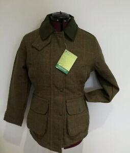 Saddle Ladies Dark Green Tweed Jacket Coat Shooting Riding Country Farm