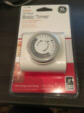 New GE 15431 Indoor 1 Outlet Basic Mechanical 24 Hour Timer - White