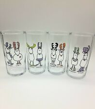 Set of 4 Libbey Christmas Reindeer Drinking Glasses Great Condition