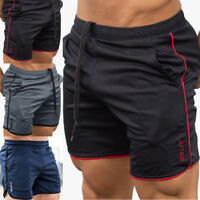 Men's Sports Training Bodybuilding Summer GYM Shorts Workout Fitness Short Pants