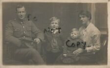 WW1 soldier family group Wife Children RE Royal Engineers Bridgwater Somerset