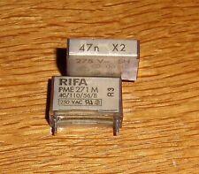 5  X2- Kondensatoren  47 nF 275 V AC - RIFA - PME271M ( = 5 pcs )