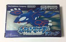 USED Nintendo GBA Pocket Monster Sapphire JAPAN Pokemon import Japanese game