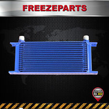 Universal 16 Row AN10 Engine Transmission 248mm Oil Cooler Mocal Style Blue