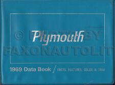 1969 Plymouth Data Dealer Album Upholstery Fury GTX Road Runner Belvedere etc.